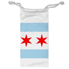 Flag Of Chicago Jewelry Bags