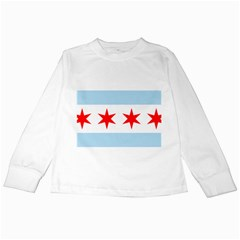 Flag Of Chicago Kids Long Sleeve T Shirts