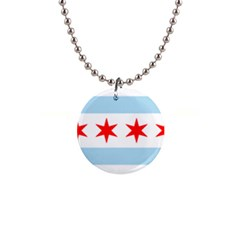 Flag Of Chicago Button Necklaces