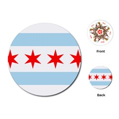 Flag Of Chicago Playing Cards (round)