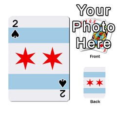 Flag Of Chicago Playing Cards 54 Designs