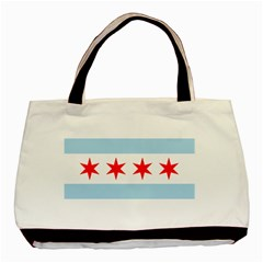 Flag Of Chicago Basic Tote Bag