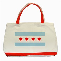 Flag Of Chicago Classic Tote Bag (red)