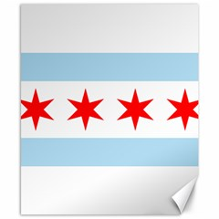 Flag Of Chicago Canvas 8  X 10