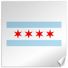 Flag Of Chicago Canvas 16  X 16