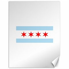 Flag Of Chicago Canvas 18  X 24