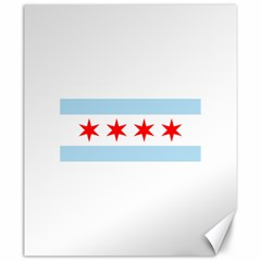 Flag Of Chicago Canvas 20  X 24