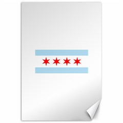 Flag Of Chicago Canvas 20  X 30