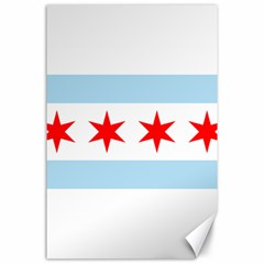 Flag Of Chicago Canvas 24  X 36