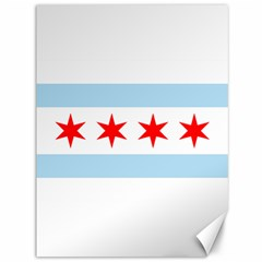 Flag Of Chicago Canvas 36  X 48