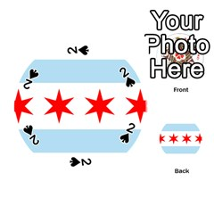 Flag Of Chicago Playing Cards 54 (round)