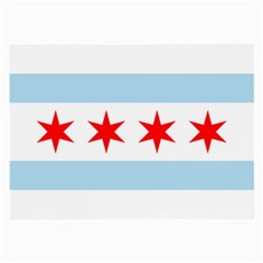 Flag Of Chicago Large Glasses Cloth (2 Side)