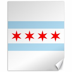 Flag Of Chicago Canvas 11  X 14