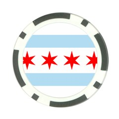 Flag Of Chicago Poker Chip Card Guards
