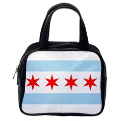 Flag Of Chicago Classic Handbags (one Side)