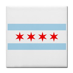 Flag Of Chicago Face Towel