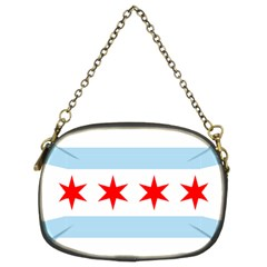 Flag Of Chicago Chain Purses (two Sides)