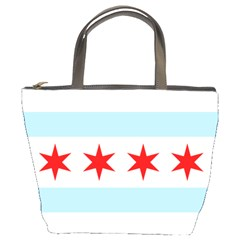 Flag Of Chicago Bucket Bags