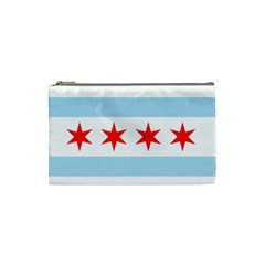 Flag Of Chicago Cosmetic Bag (Small)