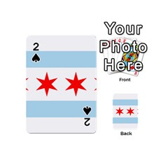 Flag Of Chicago Playing Cards 54 (Mini)