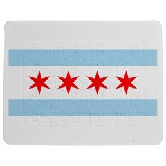 Flag Of Chicago Jigsaw Puzzle Photo Stand (rectangular)