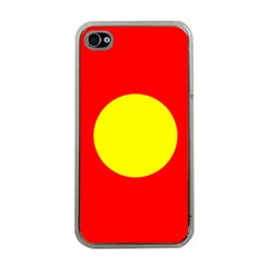 Flag Of Freetown Christiania Apple Iphone 4 Case (clear)
