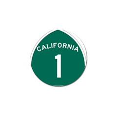 California 1 State Highway   Pch Golf Ball Marker (4 pack)