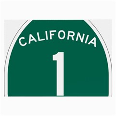 California 1 State Highway   Pch Large Glasses Cloth