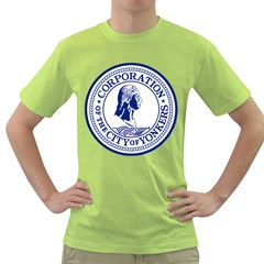 Seal Of Yonkers, New York  Green T Shirt