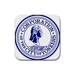 Seal Of Yonkers, New York  Rubber Coaster (square)