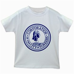 Seal Of Yonkers, New York  Kids White T Shirts