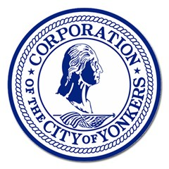 Seal Of Yonkers, New York  Magnet 5  (round)