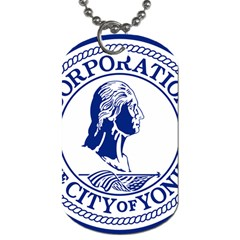 Seal Of Yonkers, New York  Dog Tag (one Side)