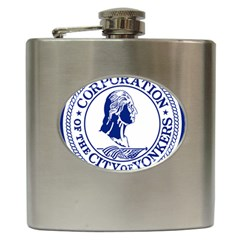 Seal Of Yonkers, New York  Hip Flask (6 Oz)