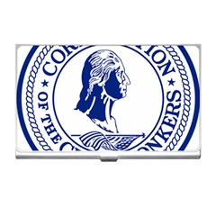 Seal Of Yonkers, New York  Business Card Holders
