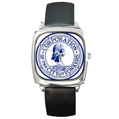 Seal Of Yonkers, New York  Square Metal Watch