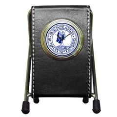 Seal Of Yonkers, New York  Pen Holder Desk Clocks