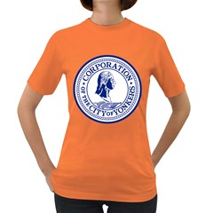 Seal Of Yonkers, New York  Women s Dark T Shirt