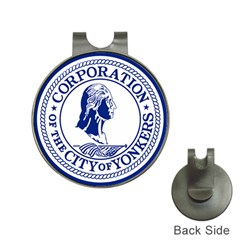 Seal Of Yonkers, New York  Hat Clips With Golf Markers