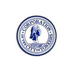 Seal Of Yonkers, New York  Hat Clip Ball Marker