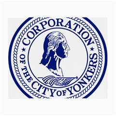 Seal Of Yonkers, New York  Small Glasses Cloth