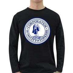 Seal Of Yonkers, New York  Long Sleeve Dark T Shirts