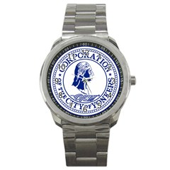 Seal Of Yonkers, New York  Sport Metal Watch