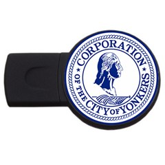 Seal Of Yonkers, New York  USB Flash Drive Round (4 GB)