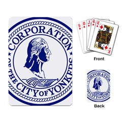 Seal Of Yonkers, New York  Playing Card