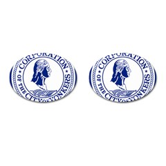 Seal Of Yonkers, New York  Cufflinks (oval)