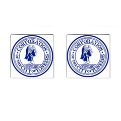 Seal Of Yonkers, New York  Cufflinks (square)