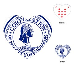 Seal Of Yonkers, New York  Playing Cards (heart)