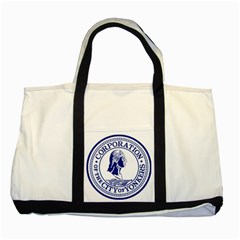 Seal Of Yonkers, New York  Two Tone Tote Bag