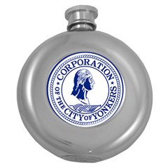 Seal Of Yonkers, New York  Round Hip Flask (5 Oz)